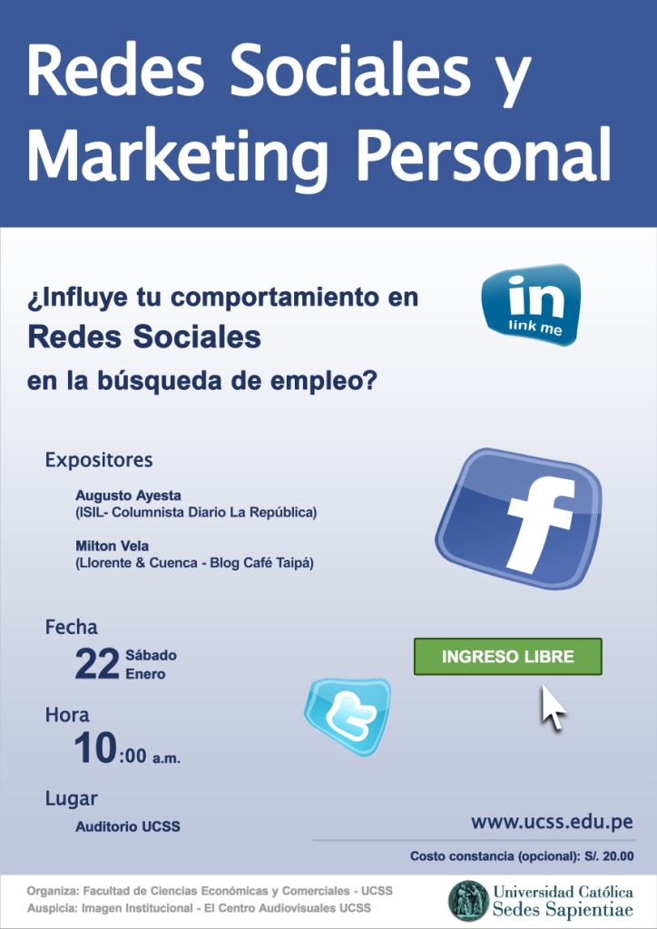 Redes sociales y Marketing Personal UCSS