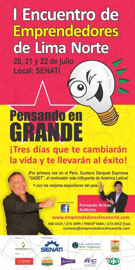 Primer Encuentro de Emprendedores Lima Norte 'PENSANDO EN GRANDE'