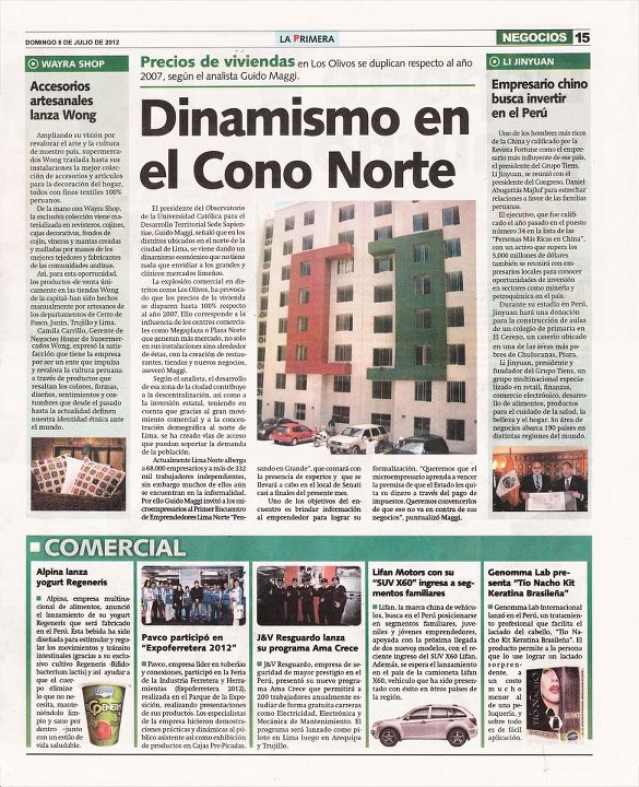Dinamismo en el Cono Norte - La Primera 08/07/2012