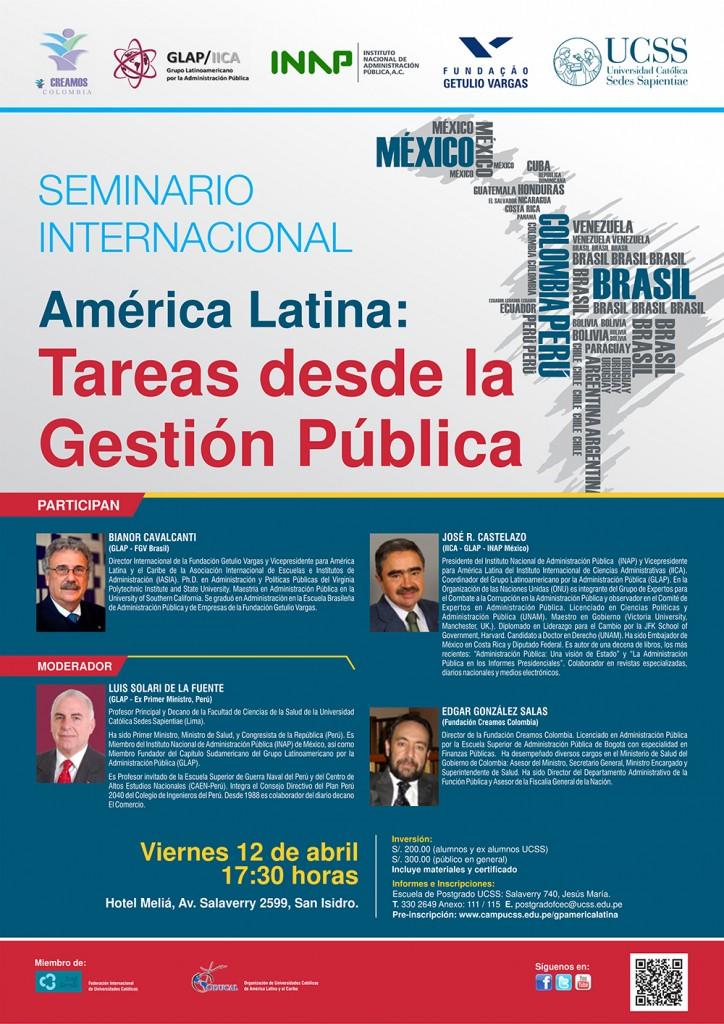 Seminario Internacional TAREAS DESDE LA GESTIÓN PÚBLICA