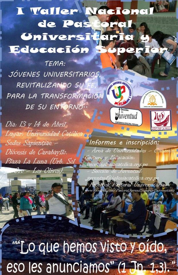 I Taller Nacional de Pastoral Universitaria y Educación Superior
