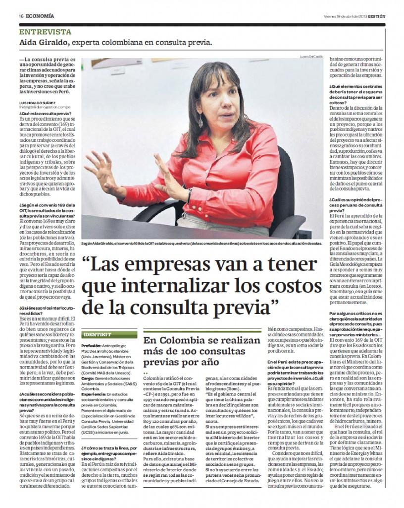 Aida Giraldo - Gestión 19-04-2013