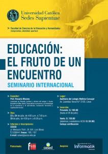 Seminario Internacional EDUCACIÓN FRUTO DE UN ENCUENTRO
