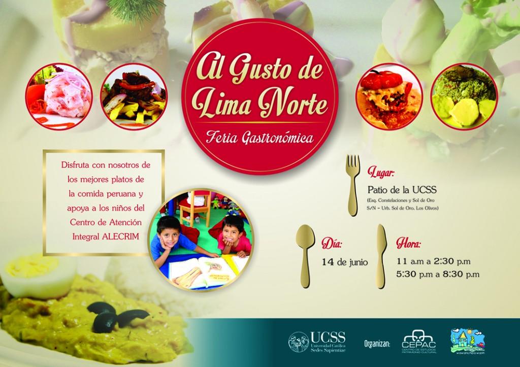 Al Gusto de Lima Norte - Afiche