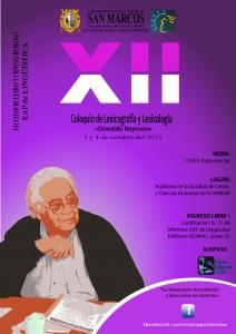 XII Coloquio de Lexicología y Lexicografía «Oswaldo Reynoso»