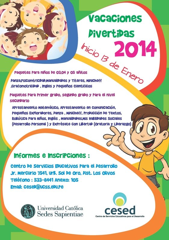 Vacaciones Divertidas 2014 - CESED