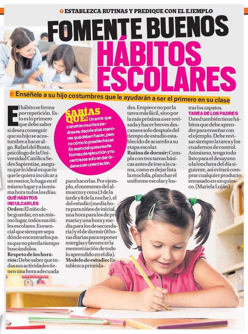 06032014 TROME Habitos escolares