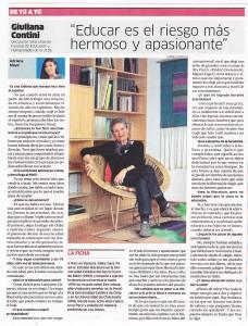 """""""Educar es el riesgo más hermoso y apasionante"""" (La República 07/07/2014)"""