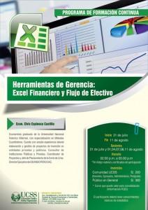 Herramientas de gerencia: EXCEL FINANCIERO y FLUJO DE EFECTIVO