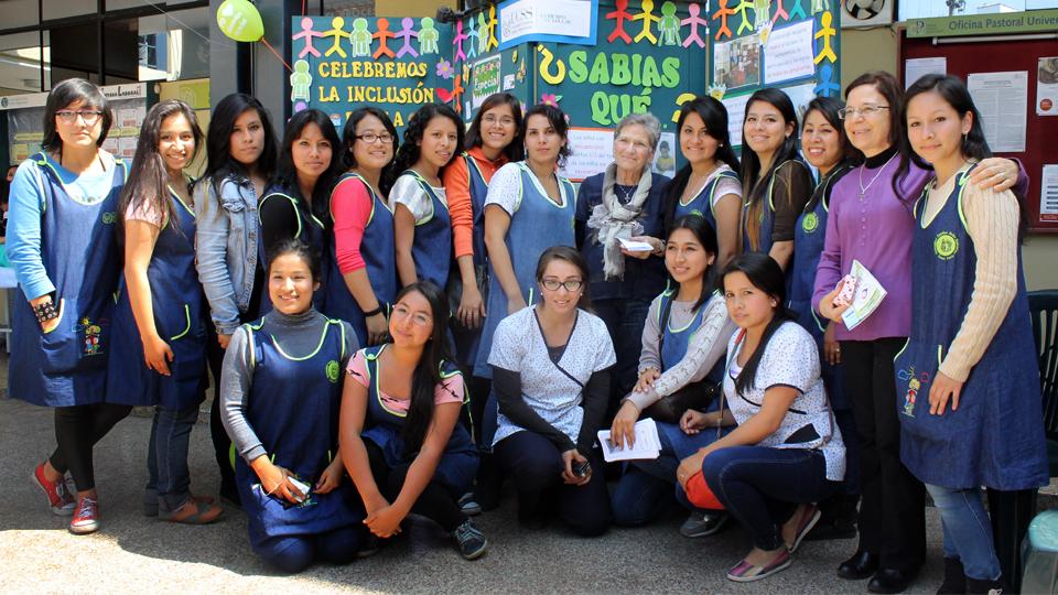 Alumnas de la carrera de Educación Especial
