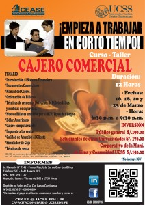 Curso CAJERO COMERCIAL MARZO 2015