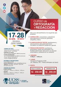 Curso Ortografía y Redacción abril-mayo 2015