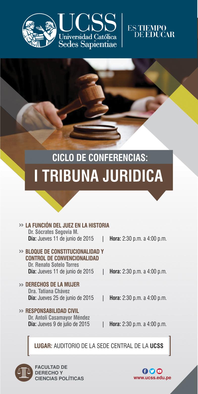 Derecho - I Tribuna Juridica - junio-julio 2015