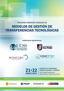 afiche seminario concytec arequipa