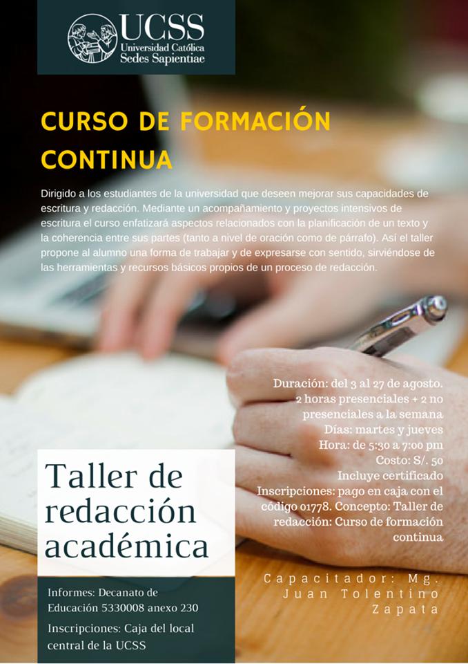 FCEH - Taller de Redacción Académica - agosto 2015