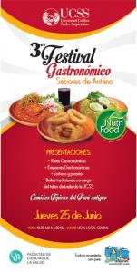Nutrición y Dietética - 3er Festival Gastronomico SABORES DE ANTAÑO - afiche