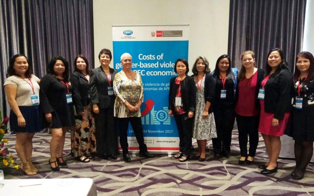 Equipo del taller Costo de la violencia de género en las economías de la APEC - FCEC - noviembre 2017