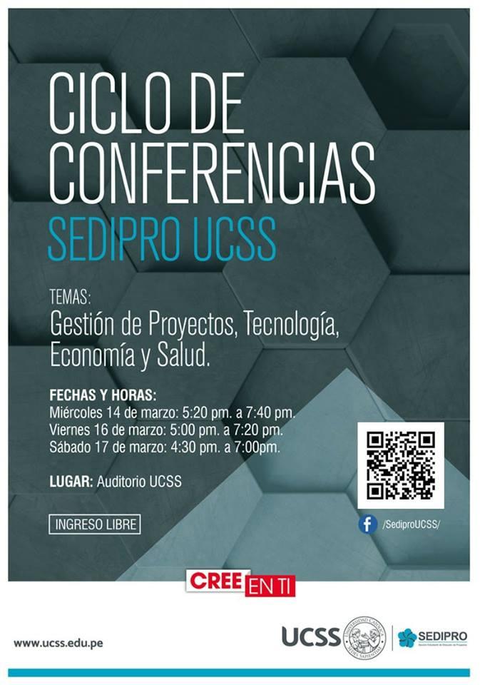 Primer Ciclo de Conferencias SEDIPRO UCSS - afiche