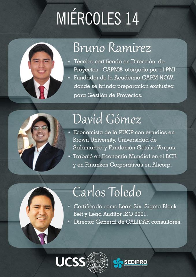 Primer Ciclo de Conferencias SEDIPRO UCSS - miercoles 14