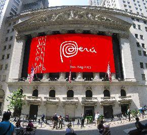Peru Day Wall Street
