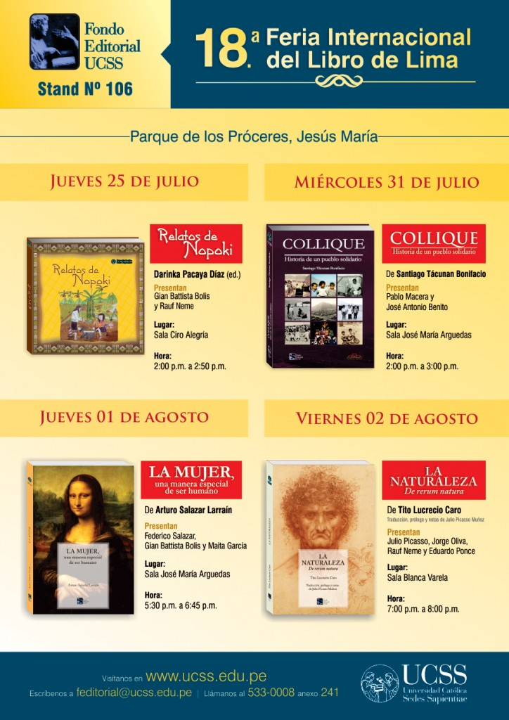 AFICHE 18 FIL Lima FONDO EDITORIAL UCSS