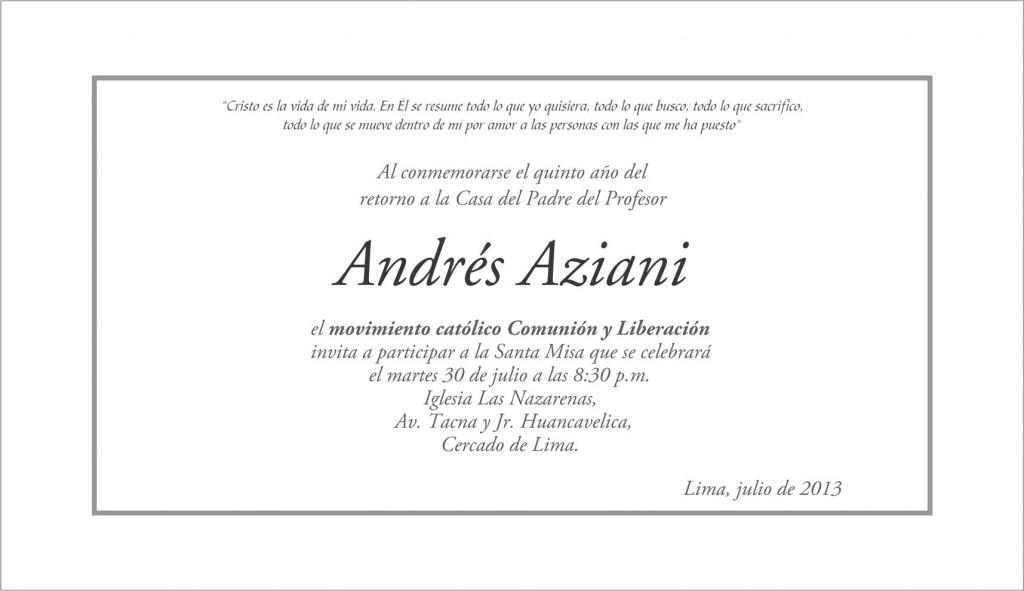 Invitación a Misa - Andrés Aziani (2)