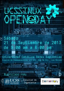 UCSSINUX OPEN DAY 2013 POSTER