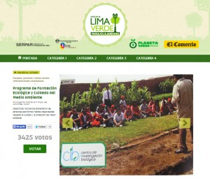 Premio Lima Verde 2013 votación WEB