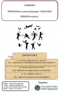 I Seminario Nutrición Fisioterapia Psicología Deportiva Moderna