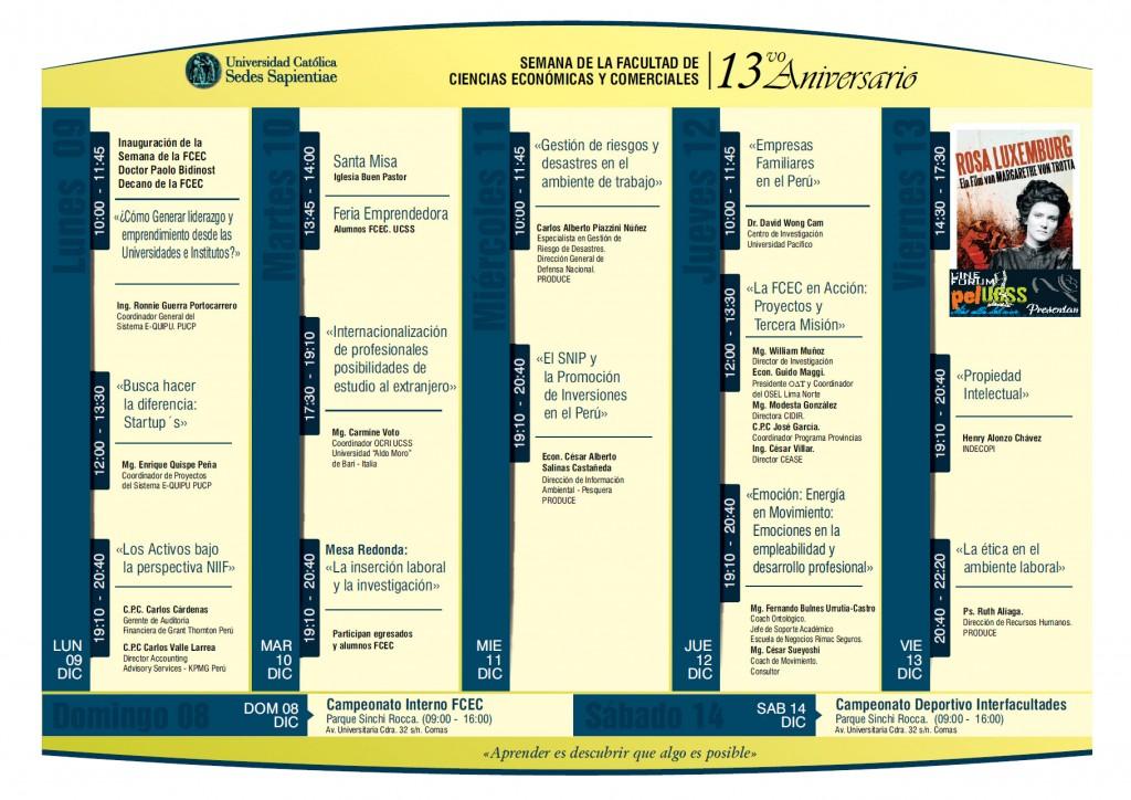 Programación Semana FCEC 2013