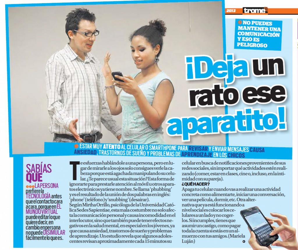 Trome 05-12-2013 Smartphones Mirtha Orrillo