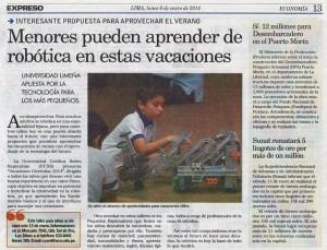 060114 Expreso :: ROBÓTICA para niños