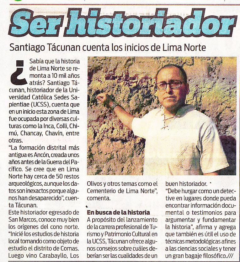 """""""Ser historiador""""- Diario OJO, 28/03/2014"""
