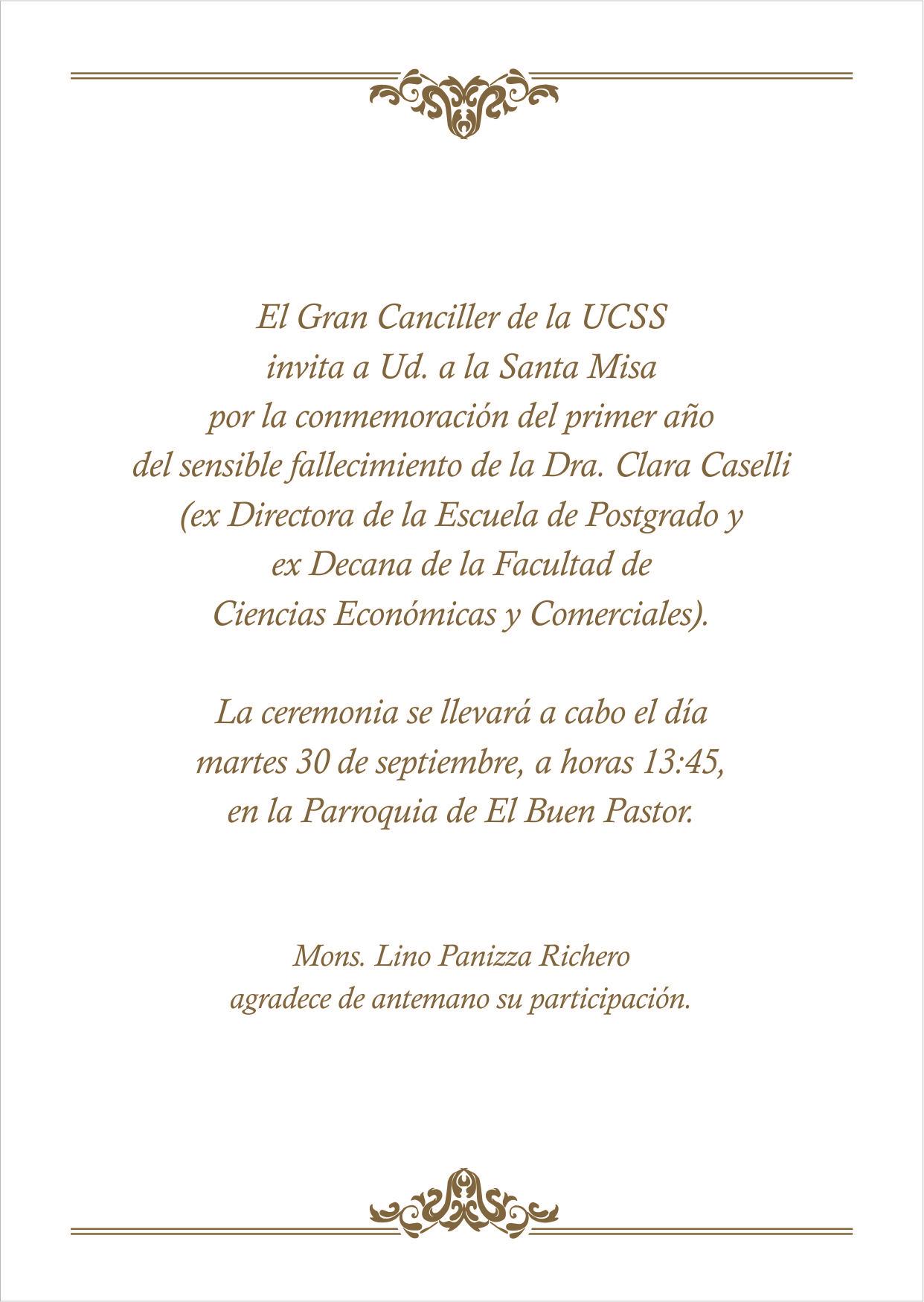 Recordando A Clara Caselli Campucss