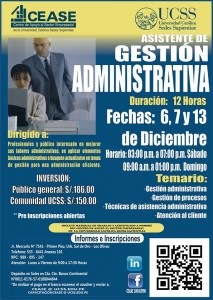 CEASE curso gestion Administrativa dic 2014