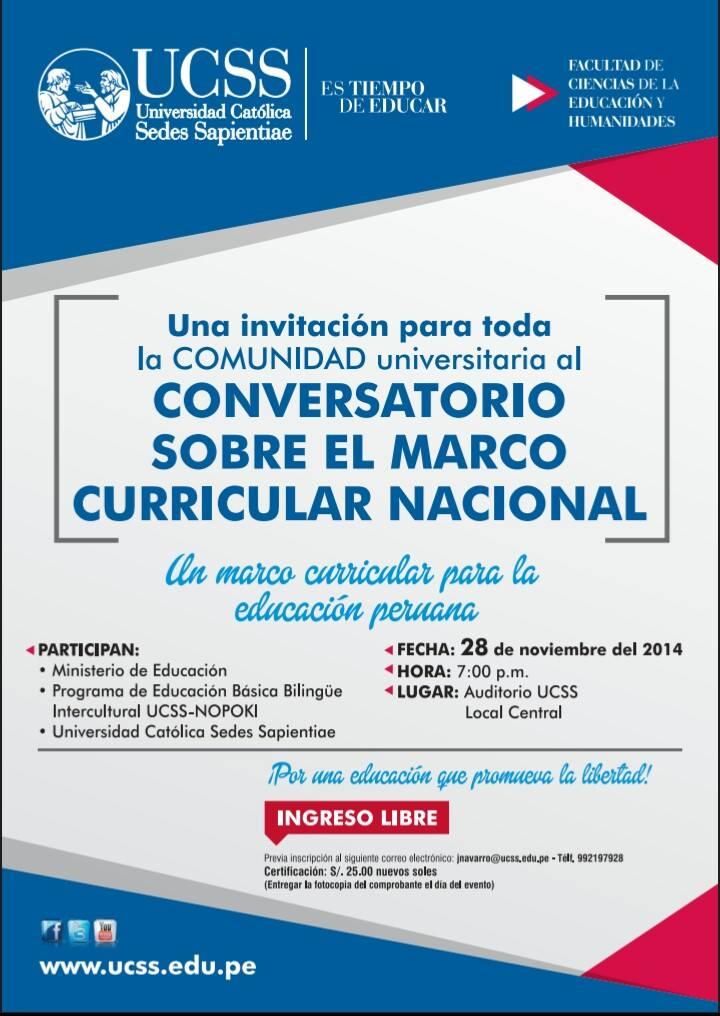 Conversatorio sobre el Marco Curricular Nacional