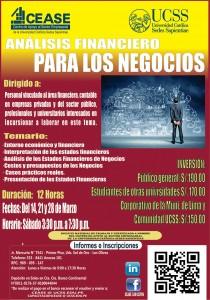 Curso ANALISIS FINANCIERO PARA LOS NEGOCIOS MARZO 2015