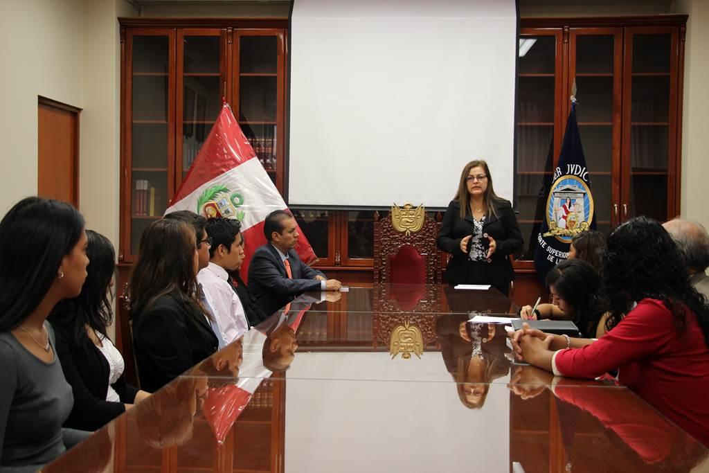 Derecho - visita CSJ Lima Norte 14-05-2015
