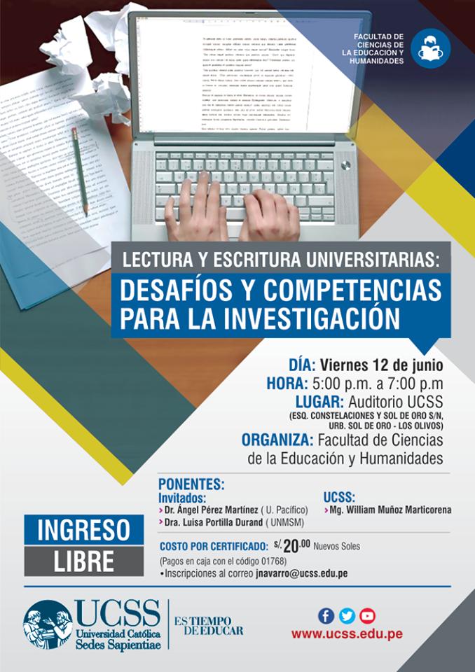 Educación - Seminario Lectura y Escritura Universitarias 12-05-2015 - afiche