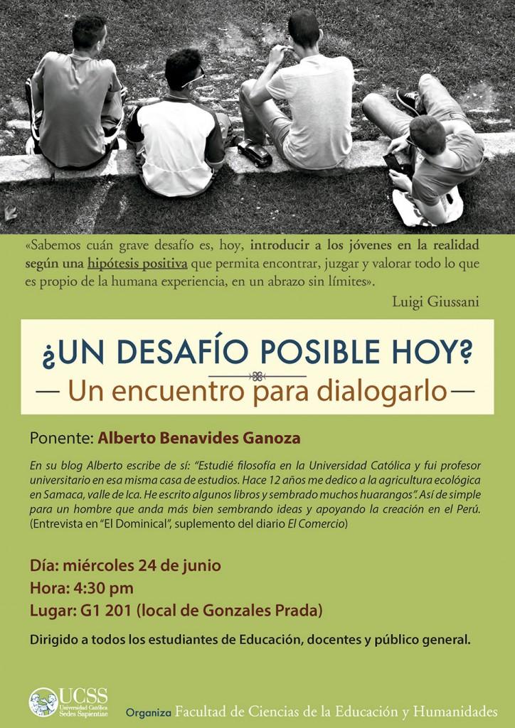Educación - Un desafío posible hoy 24-06-2015 - afiche