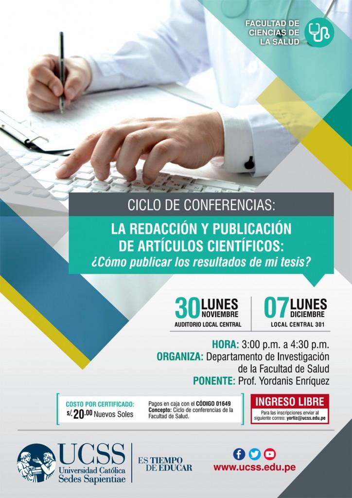 Salud - Redacción y publicación de artículos científicos