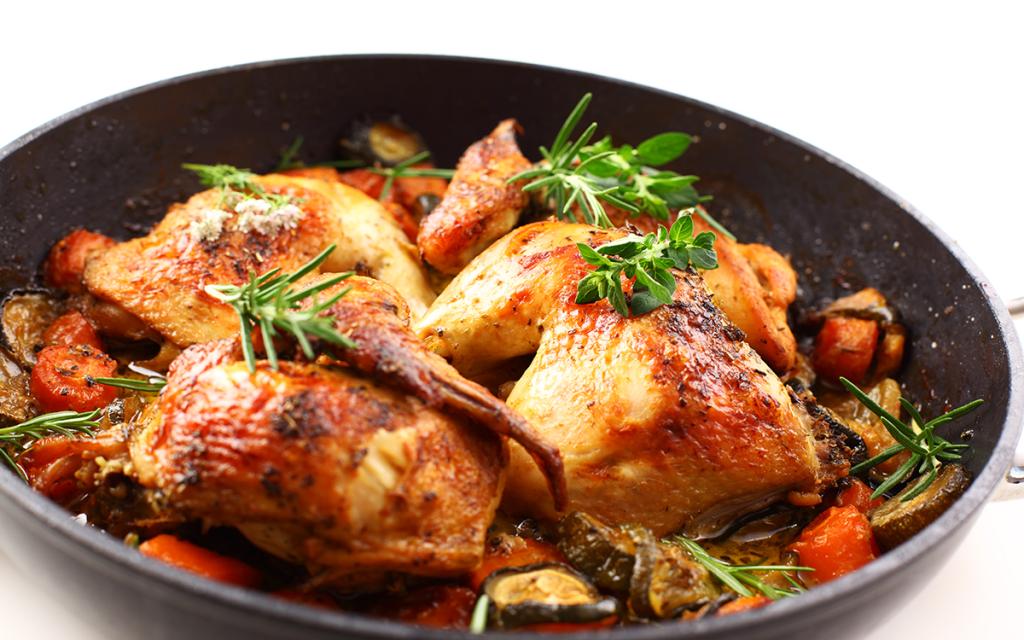 recetas semana santa - pollo horno berenjena