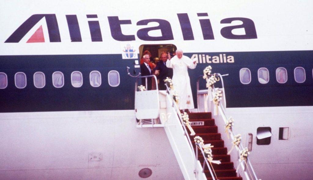 Juan Pablo II en Perú - llegada 1985