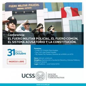 Conferencia justicia Fuero Militar Policial