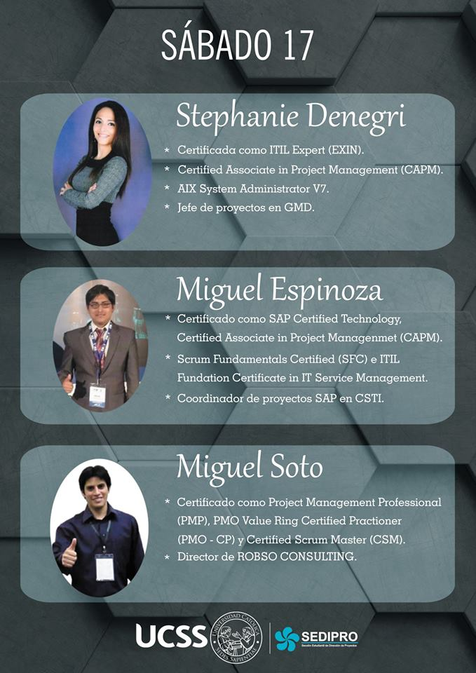 Primer Ciclo de Conferencias SEDIPRO UCSS - sábado 17