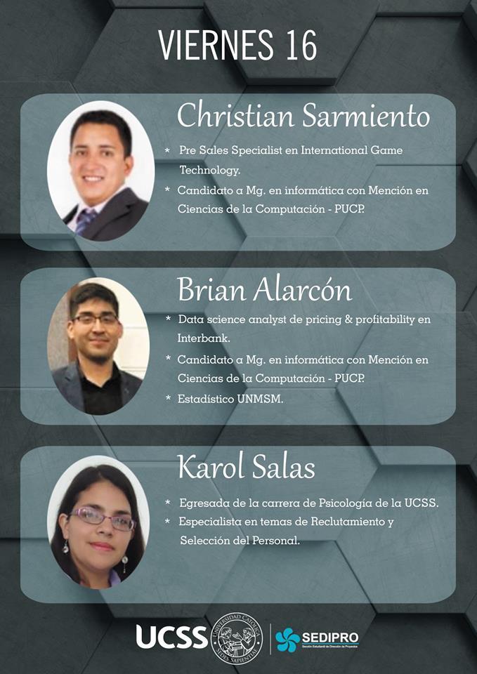 Primer Ciclo de Conferencias SEDIPRO UCSS - viernes 16