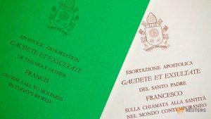 Vaticano publica exhortación del papa Francisco GAUDETE ET EXSULTATE
