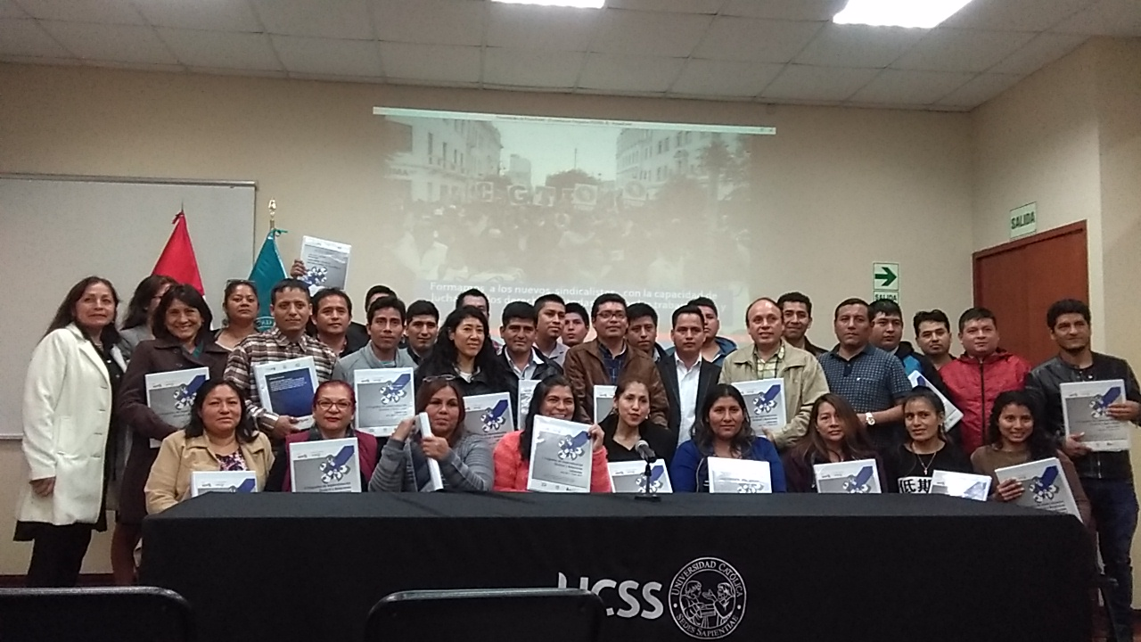 Se inaugura II Curso Sindical CGTP-IESI-UCSS