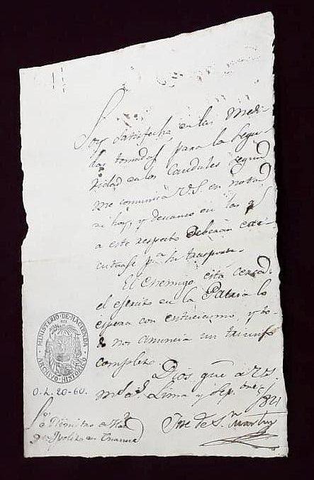 Visita AGN 2018 - Carta José de San Martín a Bernardo Monteagudo