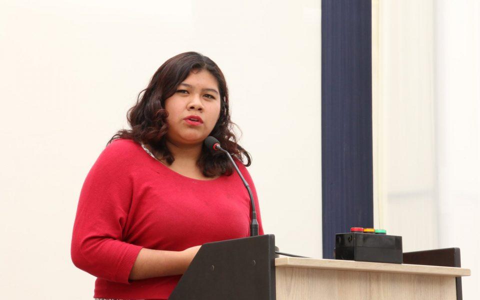 Estudiante de la FDCP, Galith Chuqilin